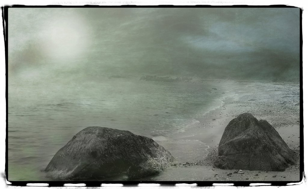 Sol, strand, sand og vand